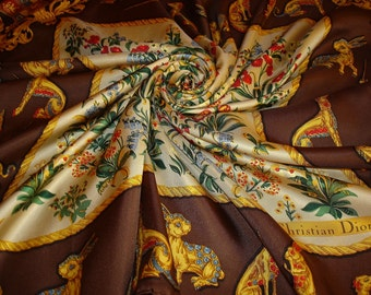 CHRISTIAN DIOR silk scarf / PROMOTION! Free shipping. Dior