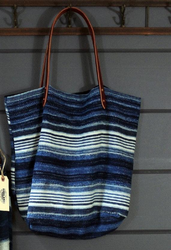 Indigo Mudcloth Stripe Bag