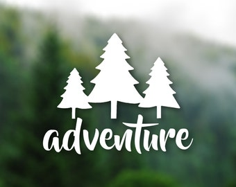DECAL [Adventure Trees] Vinyl Decal, Car Window Decal, Laptop Decal, Water Bottle Decal, Bumper Sticker, Car Decal, Sticker