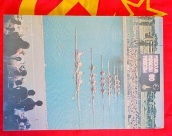 Vintage USSR Olympiad'80 Notebook, Old Soviet XXII Olympic Games notepad, Moscow'80