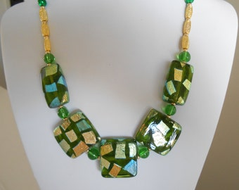 Green Dichroic Glass