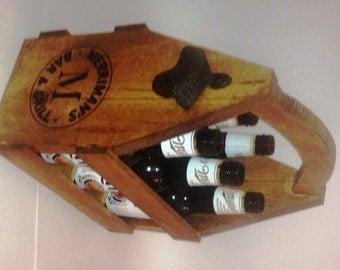 6 Bottle Beer Tote/Beer Tote/Christmas Gift/Mancave/Groomsmen Gift/Bar Gift/Valentines Gift