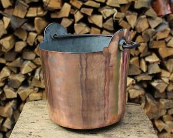 Handmade Copper Bucket: Restored Antique
