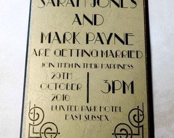 The Gatsby Wedding Invitation
