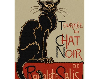 Le Chat Noir (The Black Cat) Cross Stitch Kit