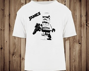 Personalised Lego StarWars Storm Trooper Tshirt