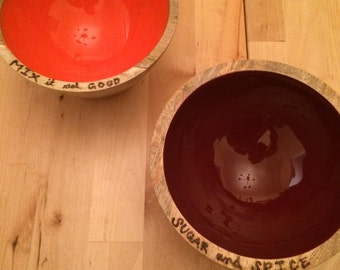 Wooden Mixing Bowls