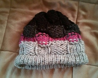Thick basket weave beanie