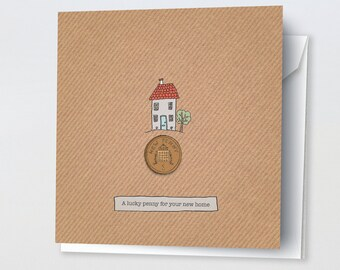Lucky penny for your new home card