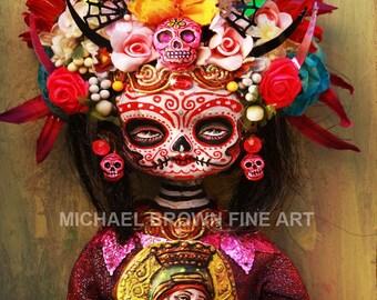 Death Princess Dia De Los Muertos PRINT #388 from Artwork by Michael Brown