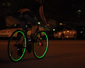 Reflective Bicycle Wheel Stickers in multiple colors