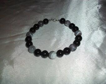 Grey Cats Eye bracelet