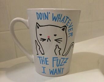 Cat mug, cat lady mug, cat lady, cat lover, cats, crazy cat lady
