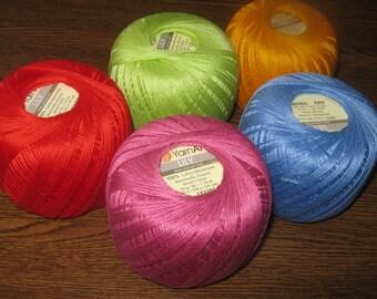 Crochet yarn, yarn for knitting, cotton crochet yarn, mercerized cotton, Lily yarn art, lace yarn, yarn for sale, lily crochet thread