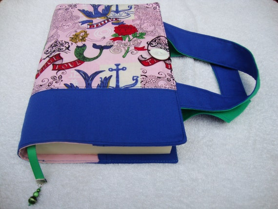 Cloth Book Covers With Handles ~ Items similar to fabric book cover with handles upcycle
