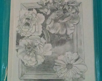 Flowers on Tray Note card Set of 5