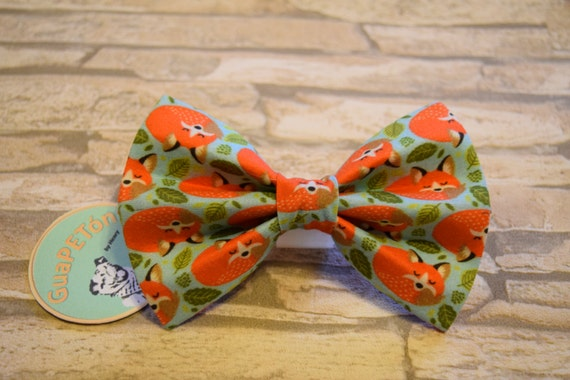 "Bow Tie Bowtie ""Foxy"" for dogs, cats or other pets"