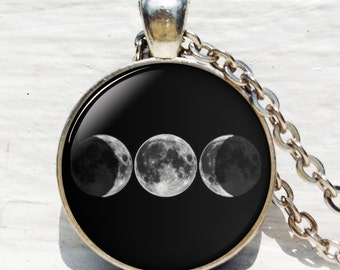 Triple Goddess pendant, Wiccan jewelry, Moon Goddess jewelry, Wiccan necklace, Goddess necklace Goddess jewelry keychain key fob