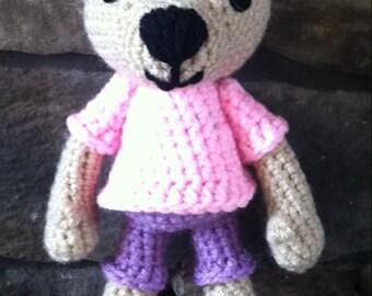 Hand made crochet teddy bear