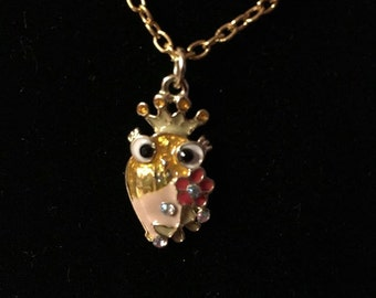 Multi colored Owl Necklace
