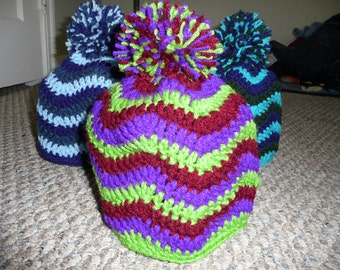 Chevron Beanie (Crochet Pattern)