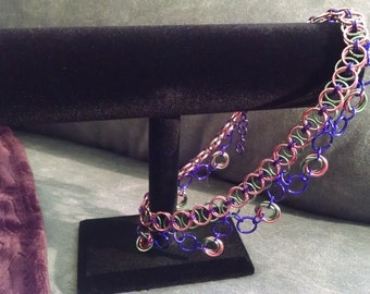 Multicolored Chainmaille Choker