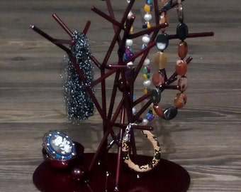 Jewelry stand,tree,stand,abstract,sculpture,ringtree,rings,bracelets,variousstand,decor,home,interior,handmade