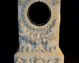 European Antique Alabaster Clock Casing