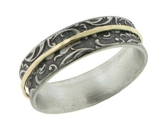 Gold Meditation Ring 14k