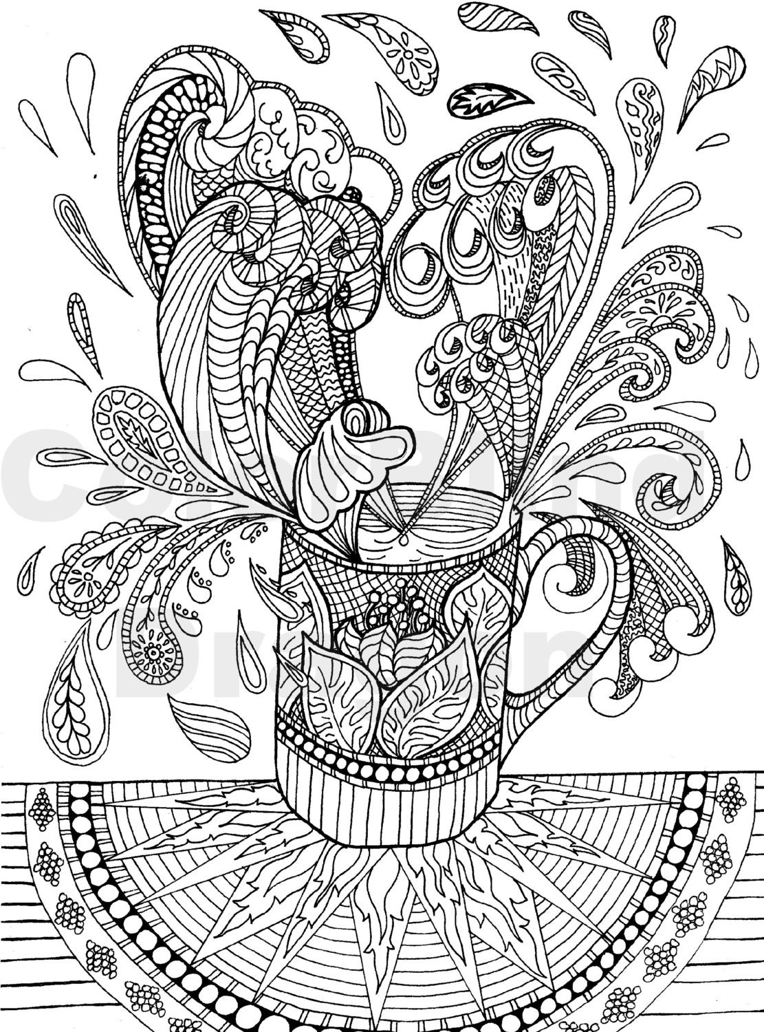 coffee coloring page coloring pages wave water by ...