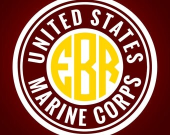United States Marine Corps Monogram Frame Cutting Files | Svg, Eps, Dxf, Png for Cricut & Silhouette | Semper Fi Vector | Devil Dawgs