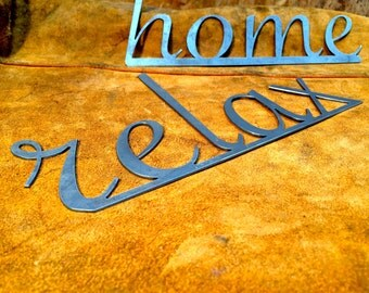 Word Art- steel lettering, wall art, home decor