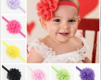 Shabby chic baby headbands