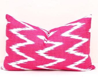 Pillows - Pillow Covers - Ikat Pillow Cover - Lumbar Pillow cover - Decorative Pillow Cover - Designer Pillow Cover - Ikat Cushion Cover