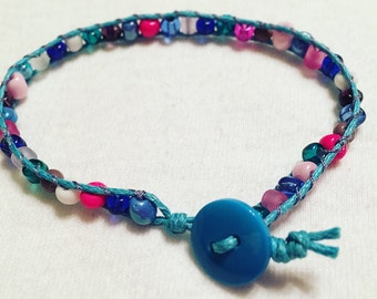 Light Blue Bead Wrap Bracelet