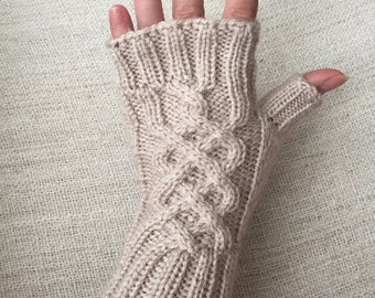Knitted Fingerless Gloves, Arm Warmers, Hand Warmers, Fall Mittens, Women Gloves