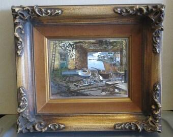 Framed Lionel Barrymore Foil Etched Wall Art; Lionel Barrymore Home Port