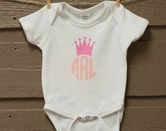 Princess Monogram Onesie - newborn-18mo