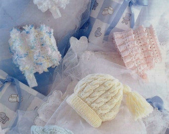 PDF Knitting Pattern for Baby Hats and bonnets - Instant Download