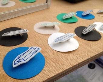 Paper Plane Pin