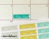 Bill Due Planner Stickers Erin Condren (ECLP) | Bill Due, Pay Day, Money Citron Breeze | Erin Condren Planner | Planner Stickers | #003