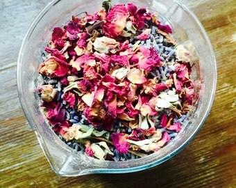 Cold & Flu Detox Ginger Bath~ Lavender~Epsom salts~Rose Petals