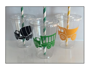 Truck Themed Party Cups