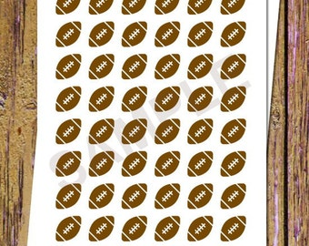 48 Football Planner Stickers Football Stickers Football Game Stickers Functional Stickers Sports Planner Stickers Icon Stickers Brown A22
