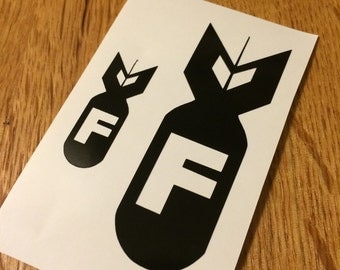 F Bomb decal set | bomb | military | Two decals