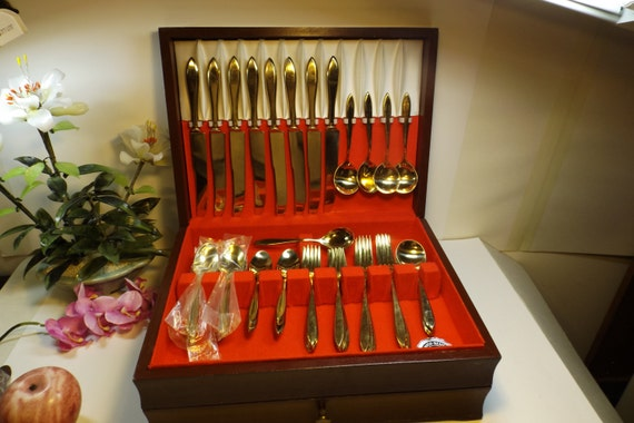 Dirilyte Bronze Service For 8 Total 49 Pc Pattern Regal