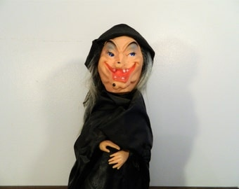 Vintage Witch Halloween Decoration Homemade Witch Craft