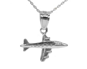 Sterling Silver Airplane Pendant