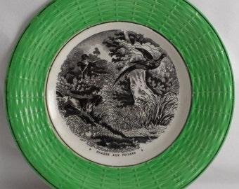 Plate Sarreguemines hunting pheasants