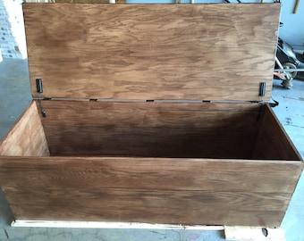 Custom made oak chest
